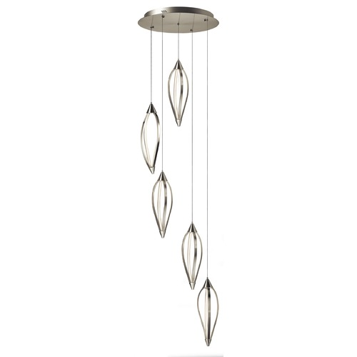 Elan Lighting Elan Lighting Meridian Brushed Nickel LED Multi-Light Pendant 83394
