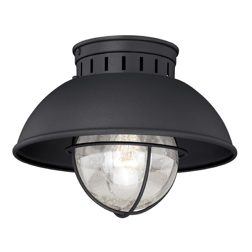 Vaxcel Lighting Seeded Glass Outdoor Ceiling Light Black Vaxcel Lighting T0142