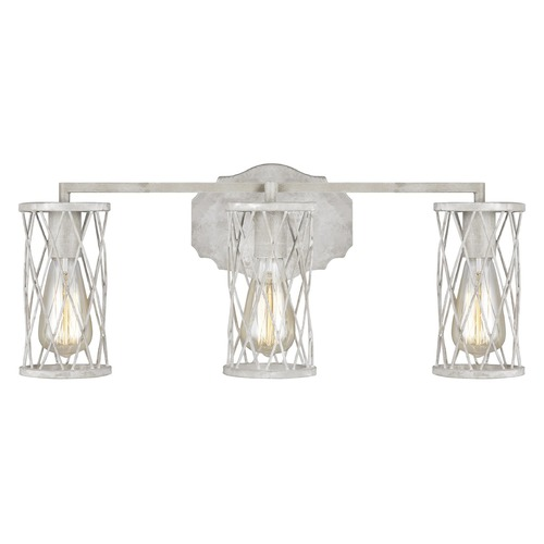 Feiss Lighting Feiss Lighting Cosette French Washed Oak / Distressed White Wood Bathroom Light VS2483FWO/DWW