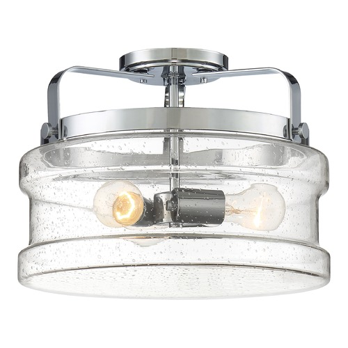Quoizel Lighting Quoizel Lighting Danbury Polished Chrome Semi-Flushmount Light DNY1714C
