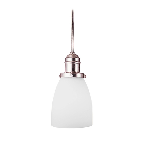 Hudson Valley Lighting Mini-Pendant Light with White Glass 3101-SN-348M
