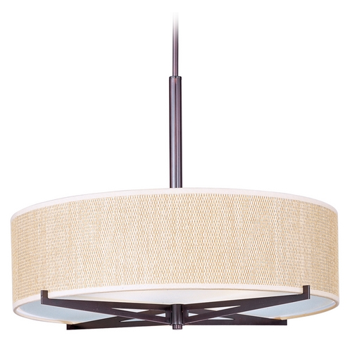 ET2 Lighting Modern Pendant Light with Brown Tones Shades in Oil Rubbed Bronze Finish E95308-101OI