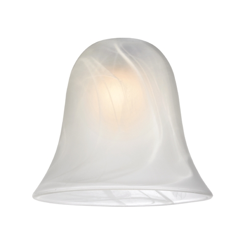Design Classics Lighting Alabaster Bell Glass Shade - Lipless with 1-5/8-Inch Fitter Opening GL9222-ALB