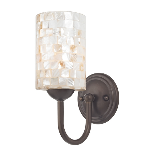 Design Classics Lighting Sconce with Mosaic Glass in Bronze Finish 593-220 GL1026C