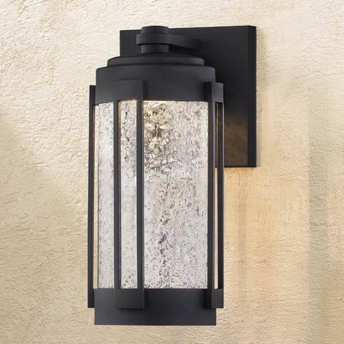 Design Classics Lighting Design Classics Woodland Powder Coated Black Medium LED Outdoor Wall Sconce 3000K 1100LM 1879-30-PCBK
