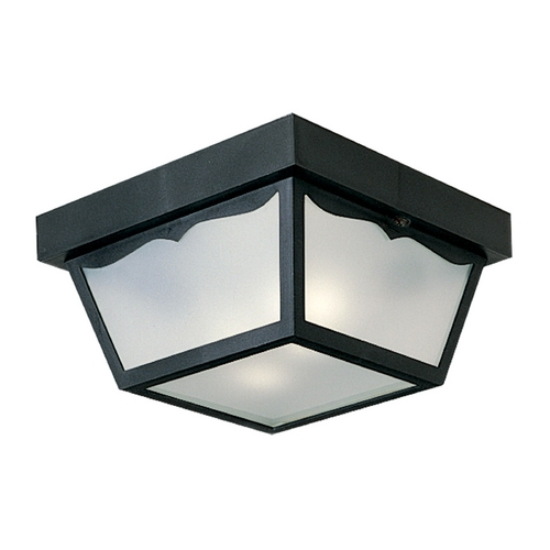 Progress Lighting Progress Close To Ceiling Light with White in Black Finish P5745-31