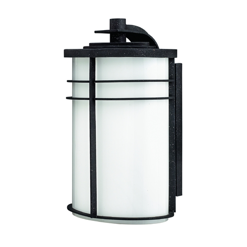 Hinkley Lighting Outdoor Wall Light with White Glass in Vintage Black Finish 1125VK