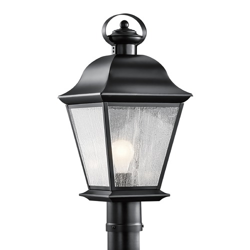 Kichler Lighting Kichler Post Light with Clear Glass in Black Finish 9909BK
