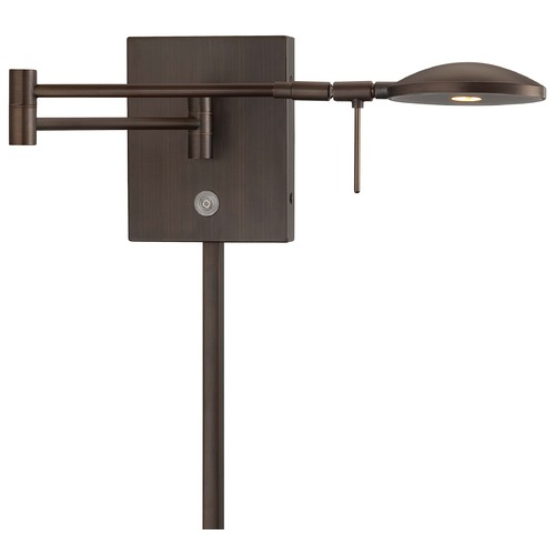 George Kovacs Lighting Modern LED Swing Arm Lamp in Copper Bronze Patina Finish P4338-647