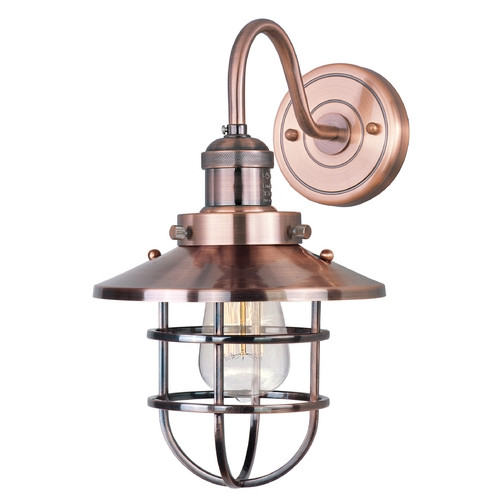 Maxim Lighting Maxim Lighting Mini Hi-Bay Antique Copper Sconce 25090ACP/BUI