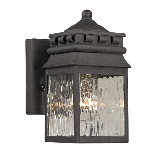 Elk Lighting Outdoor Wall Light with Clear Glass in Charcoal Finish 47060/1