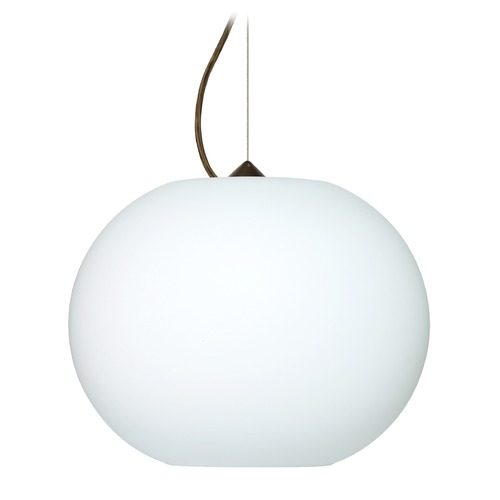 Besa Lighting Besa Lighting Jordo Bronze LED Pendant Light with Globe Shade 1KX-477507-LED-BR