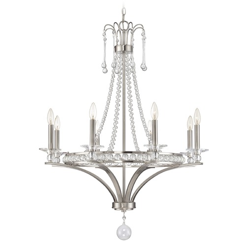 Savoy House Savoy House Lighting Alana Satin Nickel Chandelier 1-401-8-SN