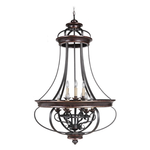 Craftmade Lighting Craftmade Stafford Aged Bronze/textured Black Pendant Light 38739-AGTB