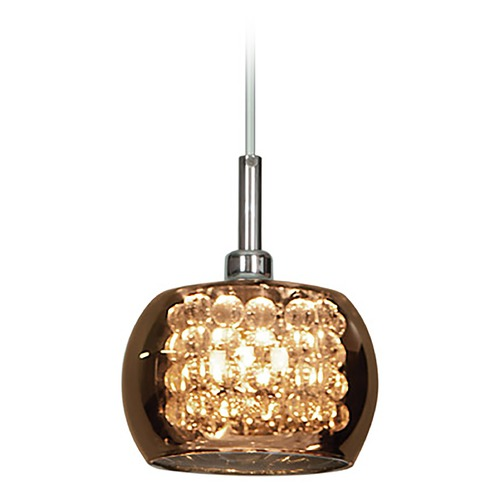Access Lighting Access Lighting Glam Chrome Mini-Pendant Light with Bowl / Dome Shade 52116-CH/MIR