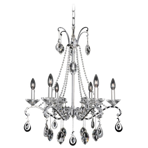 Allegri Lighting Torrelli 6 Light Crystal Chandelier 023554-010-FR001