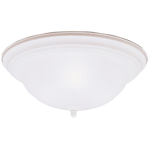 Kichler Lighting Kichler Flushmount Light with White Glass in Stucco White Finish 8655SC