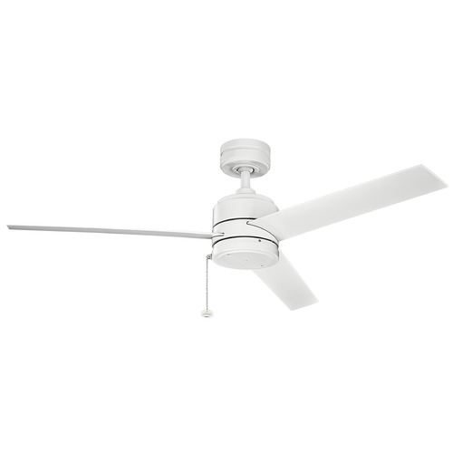 Kichler Lighting Kichler Lighting Arkwet Patio Matte White Ceiling Fan Without Light 339529MWH