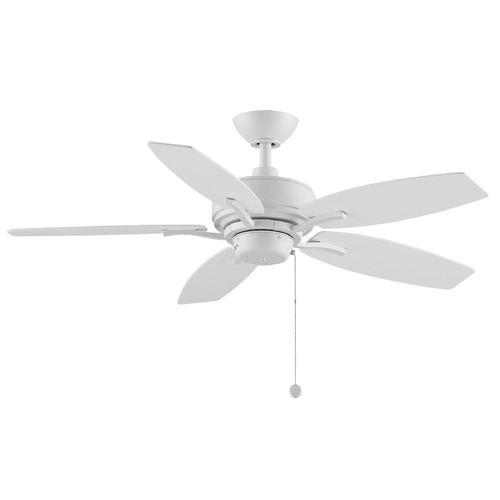 Fanimation Fans Fanimation Fans Aire Delux Matte White Ceiling Fan Without Light FP6244MW