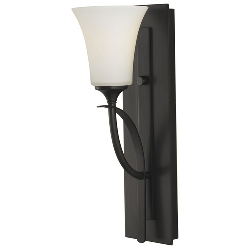Sea Gull Lighting Modern Sconce Wall Light with White Glass in Oil Rubbed Bronze Finish VS12701-ORB