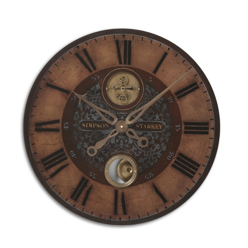 Uttermost Lighting Clock in Brass Finish 06038