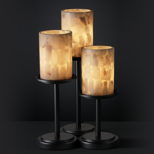 Justice Design Group Justice Design Group Alabaster Rocks! Collection Table Lamp ALR-8797-10-MBLK