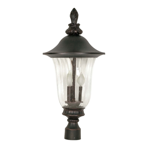 Nuvo Lighting Post Light with Clear Glass in Old Penny Bronze Finish 60/983