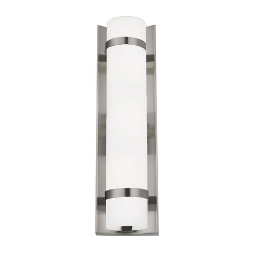 Design Classics Lighting Duo Satin Nickel Bathroom Light - Vertical Mounting Only 118-09