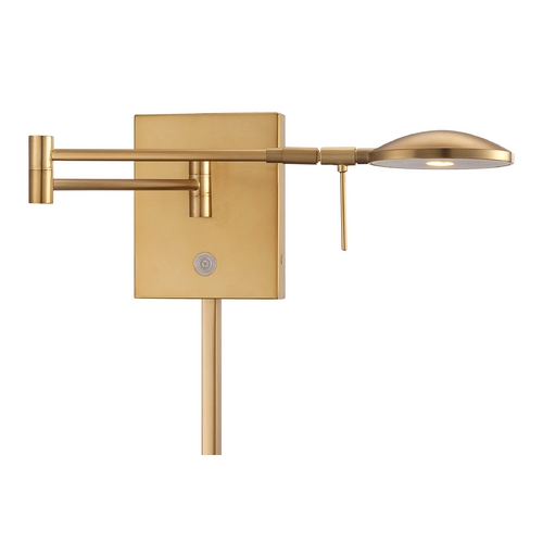George Kovacs Lighting Modern LED Swing Arm Lamp in Honey Gold Finish P4338-248