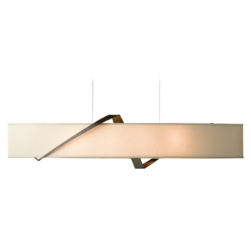 Hubbardton Forge Lighting Hubbardton Forge Lighting Stream Bronze Island Light with Oval Shade 137680-05-763
