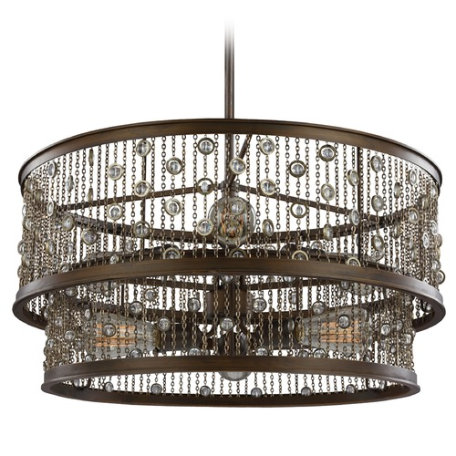 Feiss Lighting Feiss Lighting Colorado Springs Chestnut Bronze Pendant Light F3048/6CSTB
