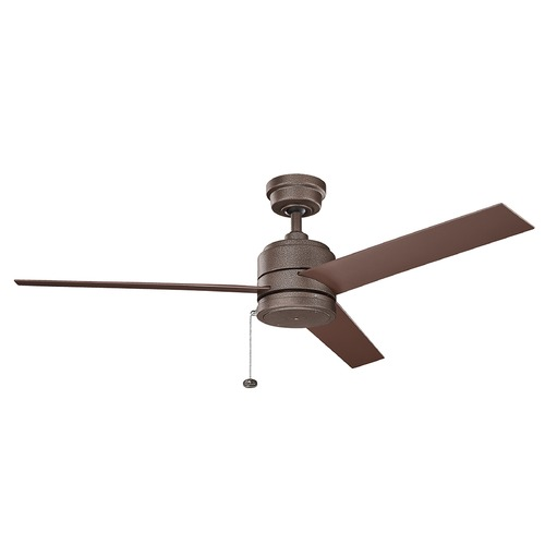 Kichler Lighting Kichler Lighting Arkwet Patio Weathered Copper Powder Coat Ceiling Fan Without Light 339529WCP