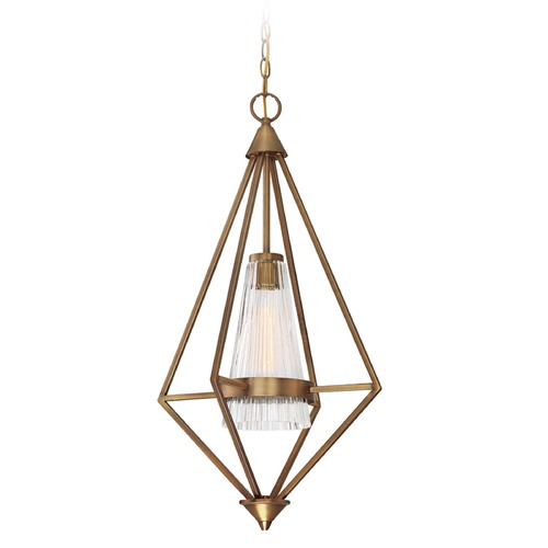 Designers Fountain Lighting Designers Fountain Montelena Old Satin Brass Pendant Light with Conical Shade 88951-OSB