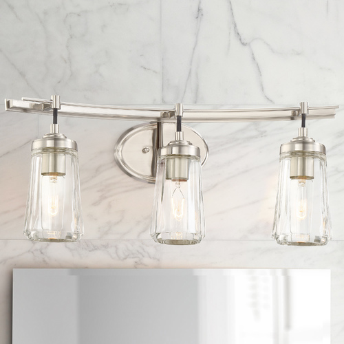 Minka Lavery Poleis 3-Light Bathroom Light in Brushed Nickel 2303-84