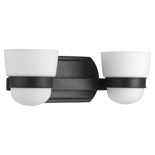 Progress Lighting Progress Lighting Index Black 2-Light Bathroom Light P300077-031
