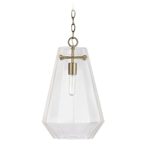 Capital Lighting Capital Lighting Independent 1-Light Aged Brass Pendant Light 338316AD
