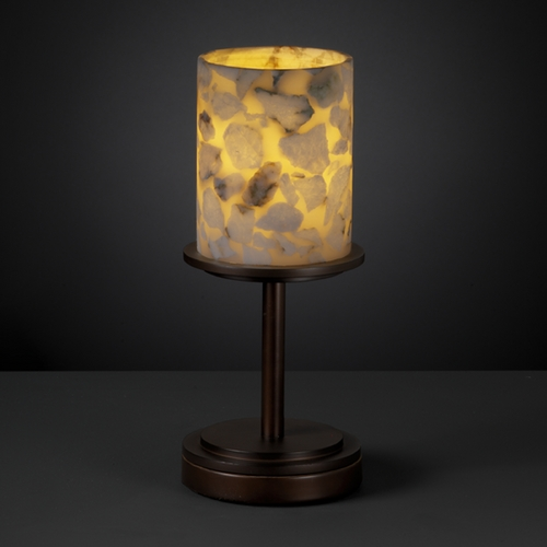 Justice Design Group Justice Design Group Alabaster Rocks! Collection Table Lamp ALR-8798-10-DBRZ
