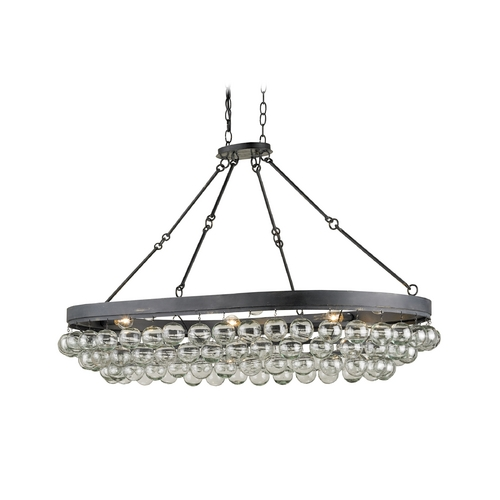 Currey and Company Lighting Modern Pendant Light in French Black Finish 9888