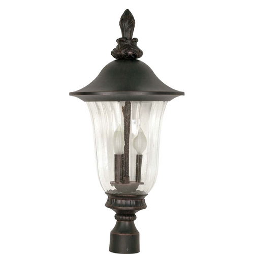Nuvo Lighting Post Light with Clear Glass in Textured Black Finish 60/984
