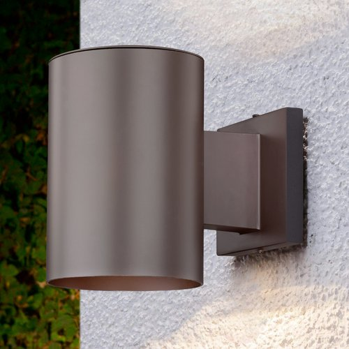 Design Classics Lighting Bronze Cylinder Outdoor Wall Down Light 5051 PCB