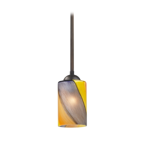 Design Classics Lighting Modern Mini-Pendant Light with Art Glass 581-220 GL1015C