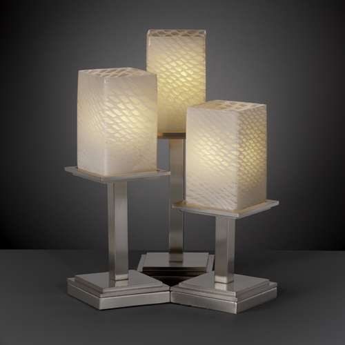 Justice Design Group Justice Design Group Fusion Collection Table Lamp FSN-8697-15-WEVE-NCKL