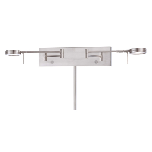 George Kovacs Lighting Modern LED Swing Arm Lamp in Brushed Nickel Finish P4309-084