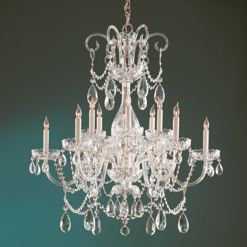 Crystorama Lighting Crystorama Lighting Traditional Crystal Polished Brass Chandelier 1035-PB-CL-S