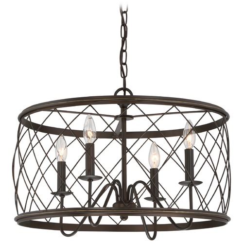 Quoizel Lighting Quoizel Dury Palladian Bronze Pendant Light RDY2821PN