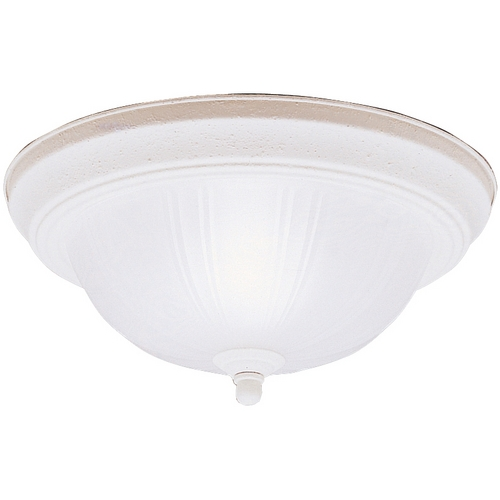 Kichler Lighting Kichler Flushmount Light with White Glass in Stucco White Finish 8653SC
