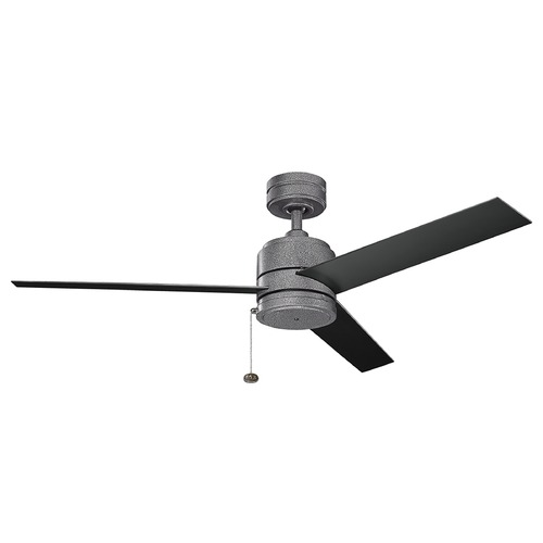 Kichler Lighting Kichler Lighting Arkwet Patio Weathered Steel Powder Coat Ceiling Fan Without Light 339529WSP