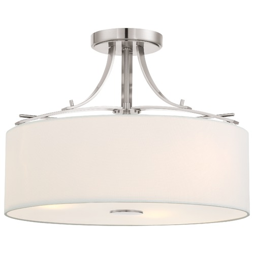 Minka Lavery Minka Poleis Brushed Nickel Semi-Flushmount Light 3307-84