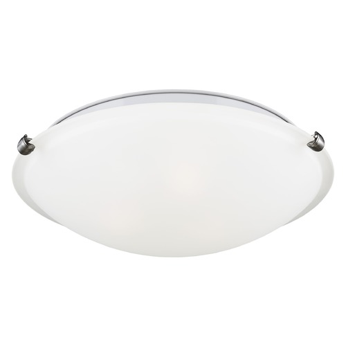 Sea Gull Lighting Sea Gull Lighting Clip Ceiling Flush Mount Brushed Nickel LED Flushmount Light 7643593S-962
