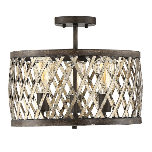 Savoy House Savoy House Lighting Sandoval Fiesta Bronze Semi-Flushmount Light 7-0800-3-124